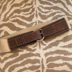 NWOT Banana Republic brown & tan belt